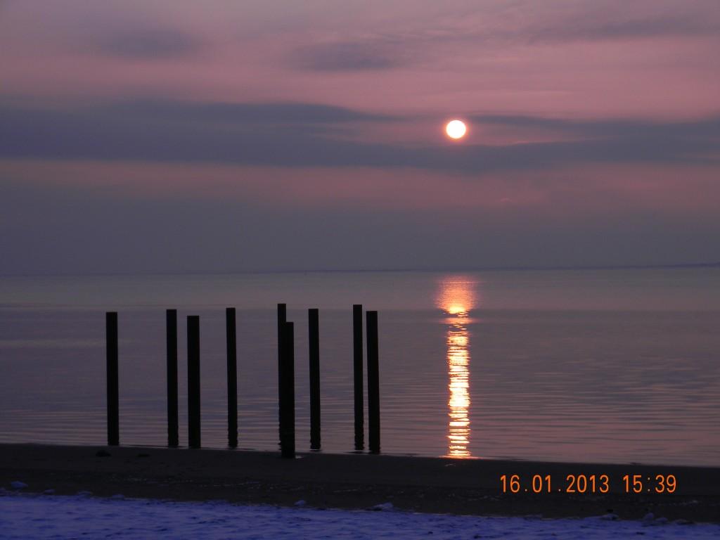 Solnedgang på Hjerting Strand
